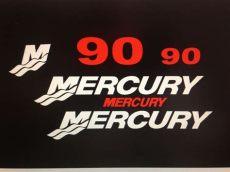 mercury outboard decals mercury outboard decal kit 90 hp decal stickers marine vinyl this set is 90 hp ebay