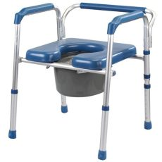 folding commode with padded seat portable toilet and bedside commode chair walmart - Padded Portable Toilet Seat