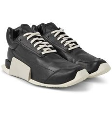 rick owens adidas level runner rick owens adidas level runner low leather and rubber sneakers in black for lyst