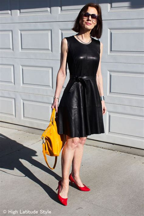 pin leather dresses