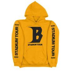purpose tour merch yellow stadium tour hoodie purpose tour merchandise