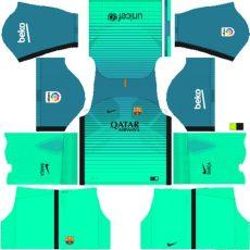dls 17 fts 15 kits barcelona 2017 - Dls 18 Barcelona Gk Kit
