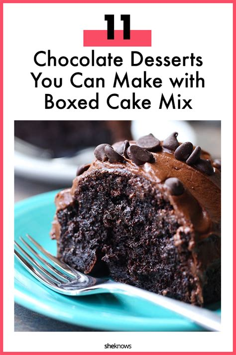 11 romantic chocolate desserts boxed cake mix sheknows
