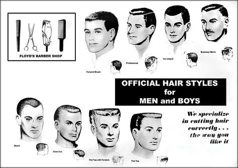 vintage barber haircut poster action