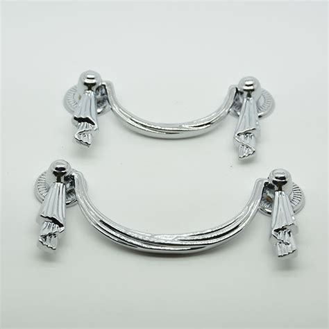 80mm chrome plated zinc alloy 35g white drawer