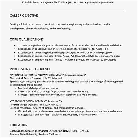 sle resume mechanical engineer
