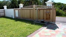 wooden sliding gate - How To Build A Timber Sliding Gate