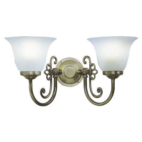 Woodstock Double Wall Light In Brass With Scavo Glass Shades Switched D R Woo0985.html