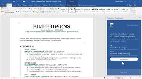 insider resume assistant brings power linkedin microsoft word