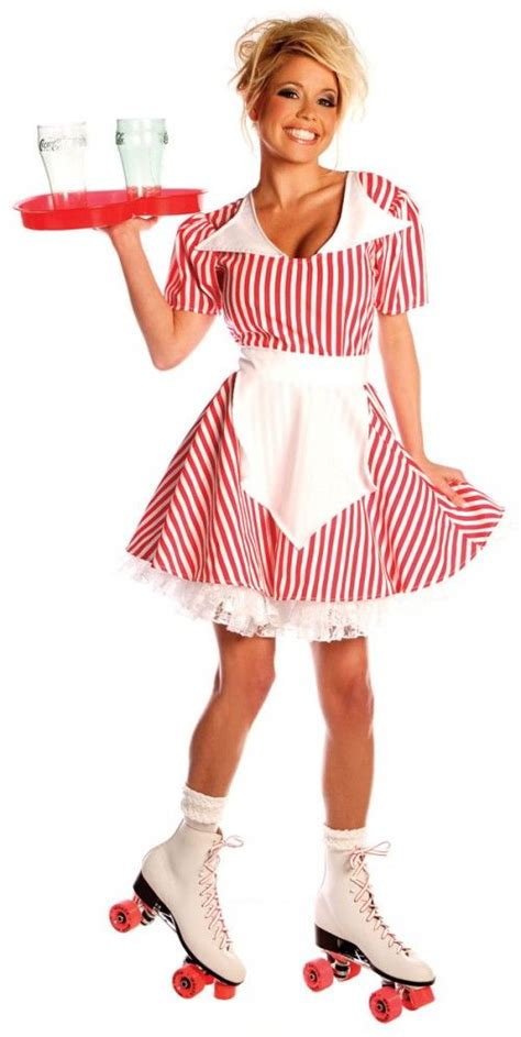 car hop 50s costume costume party time pinterest