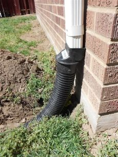 gutter downspout drainage ideas how to bury a gutter downspout water house and gardens