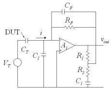 transimpedance capacitor capacitor current leakage measurement using transimpedance