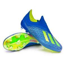 botas de futbol adidas x18 football boots adidas x 18 fg foot blue solar yellow black football store f 250 tbol emotion