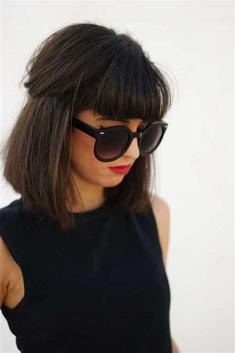 30 versatile bang haircuts medium length hairs