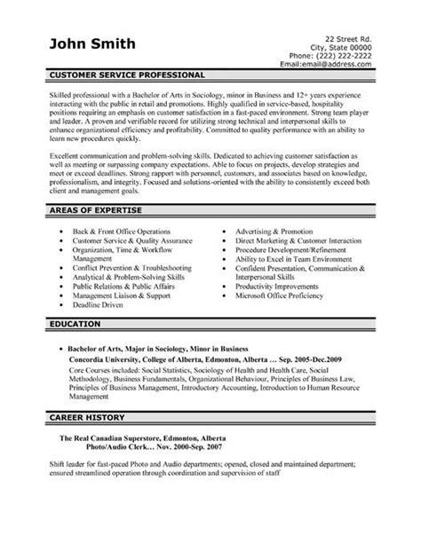 32 customer service resume templates sles images pinterest