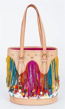 louis vuitton multicolor bucket bag louis vuitton limited edition multicolor fringe bag for sale at 1stdibs