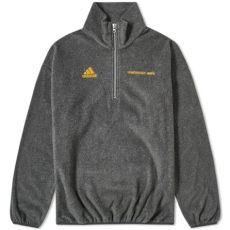 gosha rubchinskiy adidas fleece zip up sweater gosha rubchinskiy x adidas zip fleece grey end
