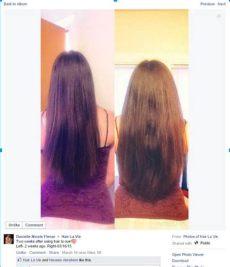 hair la vie shoo canada danielle is supper happy with hair la vie results longhair hairgrowth naturalhair