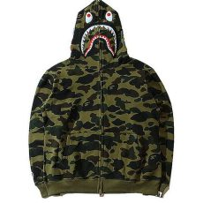 a bathing ape bape wgm camo shark hoodie army green - A Bathing Ape Hoodie Price