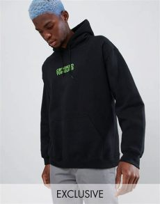 crooked tongues hoodie oversize a imprime phosphorescent noir crooked tongues hoodie oversize 224 imprim 233 rayons noir asos
