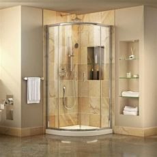 acrylic shower lowes shop dreamline prime white acrylic floor 2 corner shower kit actual 74 75 in x 33