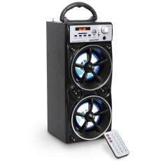 bocinas portatiles recargables redondas bocina portatil recargable bluetoot usb luz led select sound 449 00 en mercado libre
