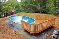 50 best above ground pools with decks - Above Ground Pool Deck Plans Oval
