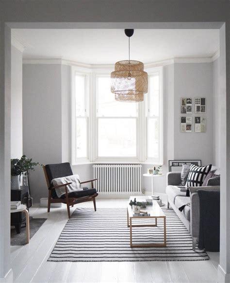 scandi style living room makeover painted white floors