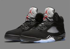 nike air jordan 5 black metallic 5 black metallic silver release info sneakernews