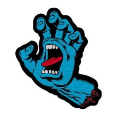 santa cruz screaming hand skateboard santa screaming adhesive back skateboard patch 659641835672 ebay