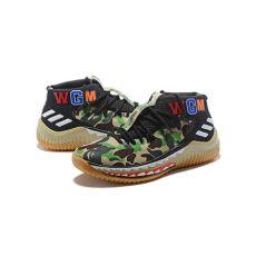 bape x adidas shoes 2018 2018 bape x adidas dame 4 green camo ap9974 adidas adidas outlet