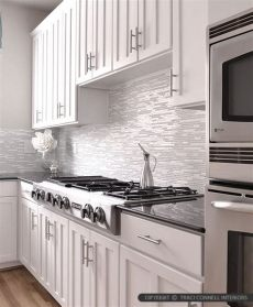 backsplash ideas for white cabinets and black granite countertops modern white marble glass kitchen backsplash tile backsplash