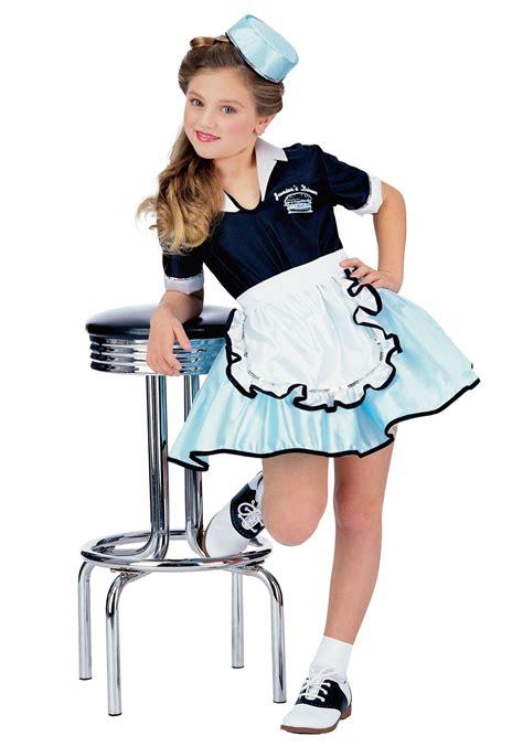 50s car hop girls costume 50s halloween child