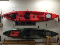 hang kayak in garage how to hang your kayak in the garage bass fishing facts