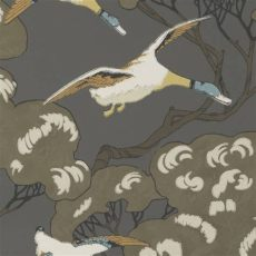 mulberry duck wallpaper mulberry flying ducks wallpaper updated in charcoal