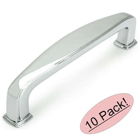 10 pack cosmas cabinet hardware polished chrome handle