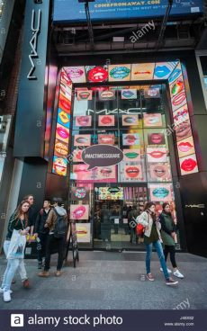 mackintosh store nyc a mac cosmetics store in times square in new york on tuesday may 9 stock photo royalty free