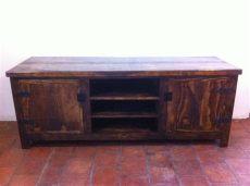 muebles rusticos de tv mueble r 250 stico para tv madera de pino excelente calidad 5 650 00 en mercado libre
