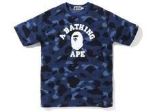 blue camo bape t shirt bape color camo college blue ss19