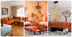 decoracion de salas pequenas modernas color naranja decoraci 243 n de salas de estar en color naranja