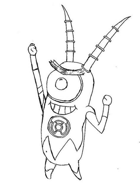 43 plankton coloring page plankton robot handle coloring