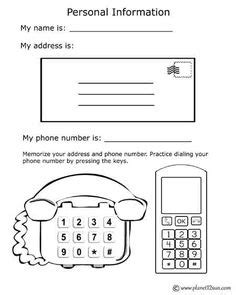 teach kids memorize address phone number pinterest learning