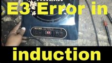 error e3 how to repair e3 error of induction cooker details