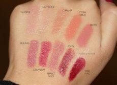 aerin rose balm lipstick swatches aerin balm lipsticks look the look book