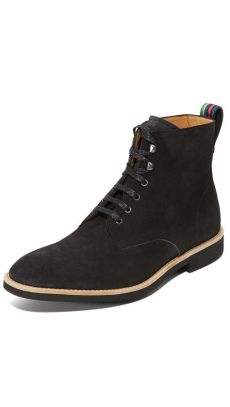 smith shoes hamilton ps by paul smith hamilton suede boots in black for lyst