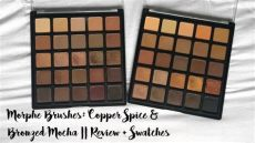 morphe 25a palette swatches morphe brushes copper spice 25a and bronzed mocha 25b review swatches