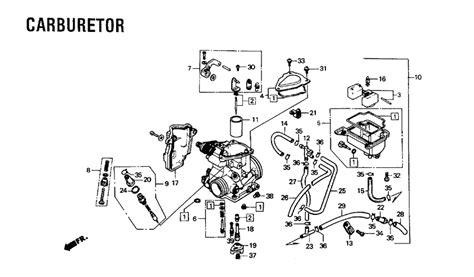 honda rancher 350 carburetor hose diagram general wiring