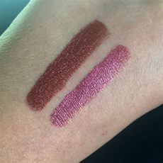 beauty bakerie lip whip royal tea bakerie cinnamon roll royal tea and berried metallic lip whips review and swatches a