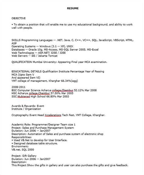 Resume For Java Fresher.html