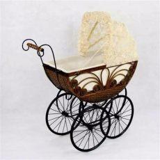 carreola para mu 241 ecas tipo antigua mimbre baby shower 6 489 00 en mercado libre - Carriolas Antiguas